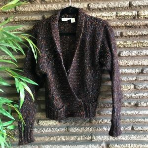 Fenn Wright & Manson Brown Marl Cardigan Sweater